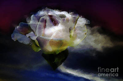 Poster featuring the photograph Cloud Rose Painterly by Clayton Bruster