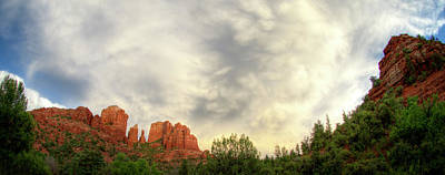 Cloudy Skies Over Cathedral Rock Poster