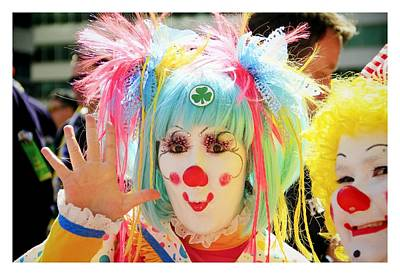 Poster featuring the photograph Cloverleaf Clown by Alice Gipson