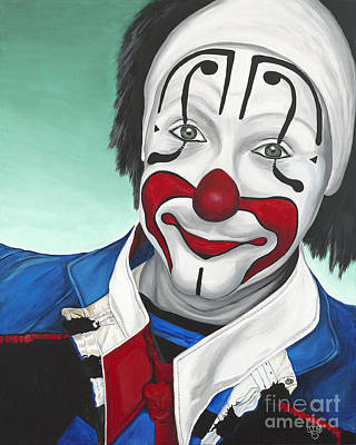 Clown - Billy Ballantine  Poster by Patty Vicknair