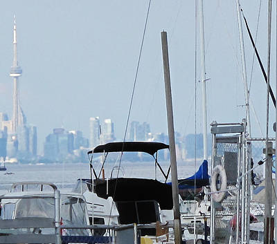 Cn Tower From Port Credit Poster