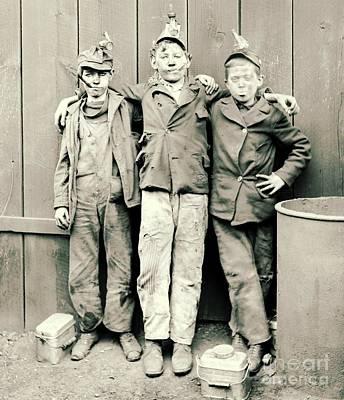 Coal Breaker Boys 1900 Poster by Padre Art