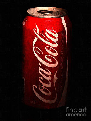 Coca Cola Coke Can . Painterly Poster