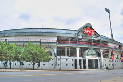 Poster featuring the photograph Coca Cola Field  by Michael Frank Jr