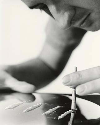 Cocaine Taking Poster by Cristina Pedrazzini