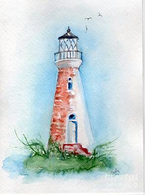 Poster featuring the painting Cockspur Lighthouse 2 by Doris Blessington