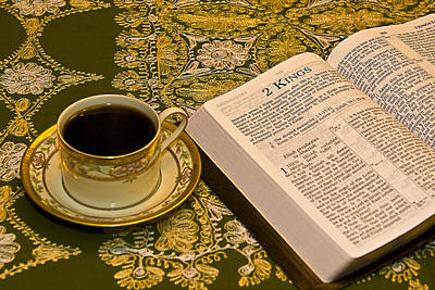 Coffee And Bible Poster by Trudy Wilkerson