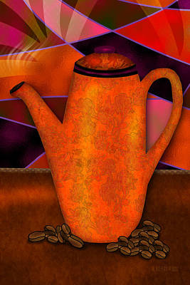 Coffee Pot Poster by Melisa Meyers