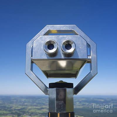 Coin-operated Binoculars Poster by Bernard Jaubert