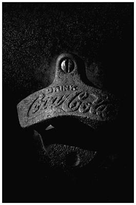Coke Bottle Opener - Bw Poster