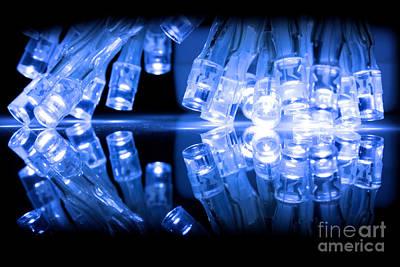 Cold Blue Led Lights Closeup Poster