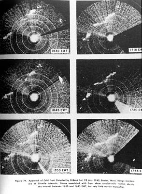 Cold Front, X-band Radar, 1943 Poster by Science Source