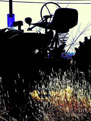 Cold Morning Tractor  Poster by Joe Jake Pratt