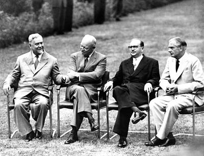 Cold War Summit Meeting Of The Big Four Poster by Everett
