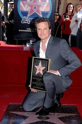 Colin Firth At The Induction Ceremony Poster by Everett