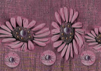 Collage Flowers In Pink Poster