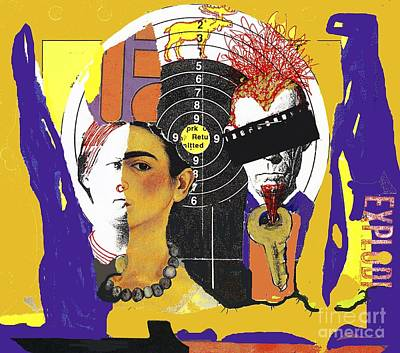 Collage Frida Poster