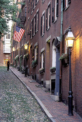 Colonial Era Town Houses And American Poster