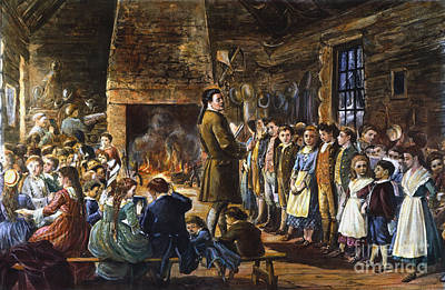 Colonial Schoolhouse Poster by Granger