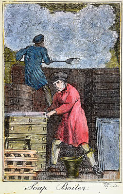 Colonial Soapmaker, 18th C Poster