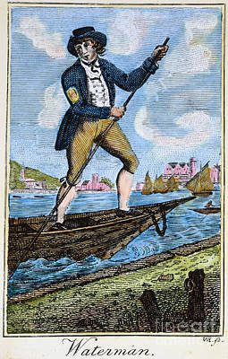 Colonial Waterman, 18th C Poster