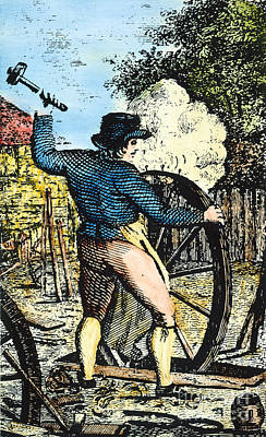 Colonial Wheelwright Poster