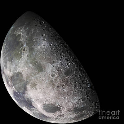 Color Mosaic Of The Earths Moon Poster by Stocktrek Images