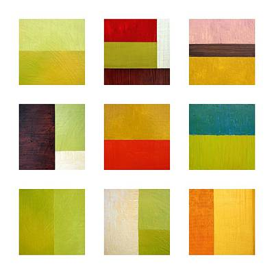 Color Study Abstract Collage Poster by Michelle Calkins