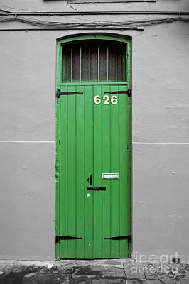 Colorful Arched Doorway French Quarter New Orleans Color Splash Black And White Poster