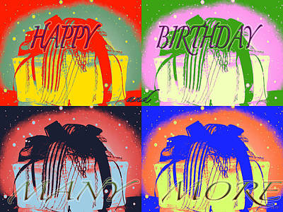 Colorful Birthday Card  Poster
