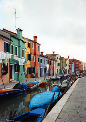 Colorful Burano Poster by C Sitton