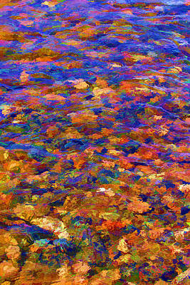 Poster featuring the digital art Colorful Clear Creek by Brian Davis