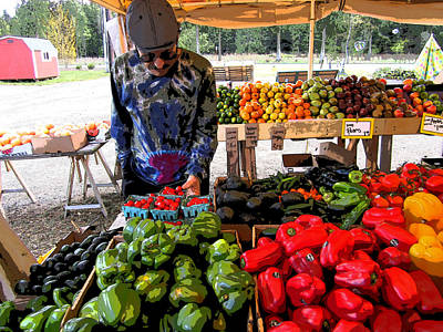 Poster featuring the photograph Colorful Fruit And Veggie Stand by Kym Backland