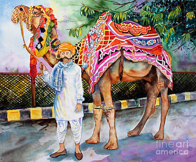 Poster featuring the painting Colorful India by Priti Lathia