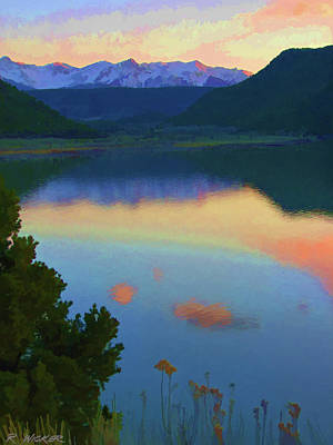 Colorful Lake Sunset Poster