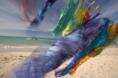 Colorful Laundry On A Windy Day Poster