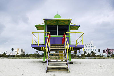 Colorful Lifeguard Station Poster by Jeremy Woodhouse