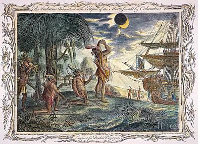 Columbus: Jamaica, 1504 Poster by Granger