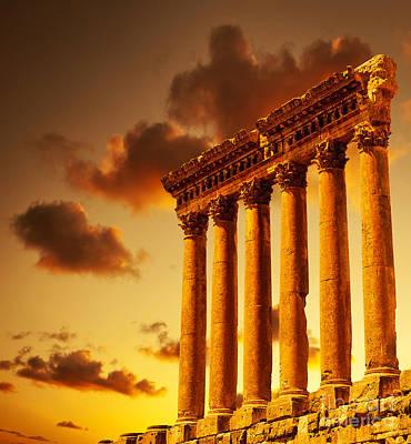 Column Ruins  Poster