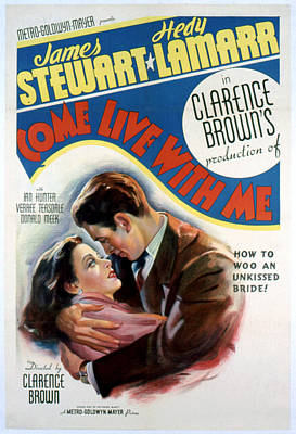 Come Live With Me, Hedy Lamarr, James Poster by Everett