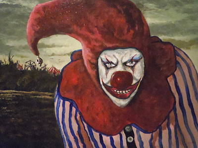 Poster featuring the painting Come With Me To The Circus by James Guentner