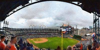 Comerica Park Home Of The Detroit Tigers Poster by Michelle Calkins