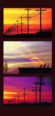 Communications Triptych Poster by Steve Ohlsen