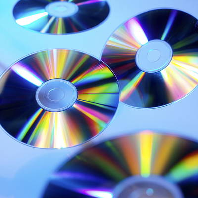 Compact Discs Poster by Tek Image