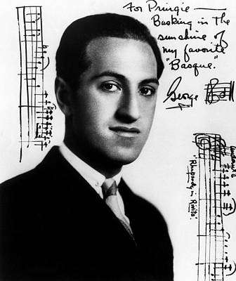 Composer George Gershwin  1898-1937 Poster by Everett
