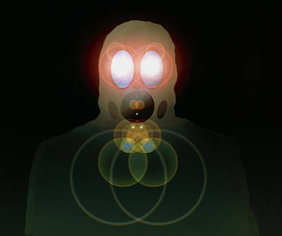 Computer Artwork Of A Figure Wearing A Gas Mask Poster by Laguna Design