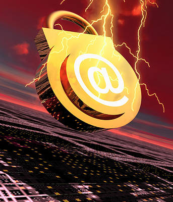 Conceptual Image Of E-mail Security Poster by Victor Habbick Visions