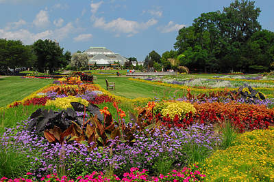 Poster featuring the photograph Conservatory Gardens by Lynn Bauer