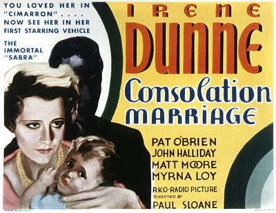 Consolation Marriage, Irene Dunne Poster by Everett