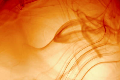 Contemporary Abstract Smoke Wisps Poster